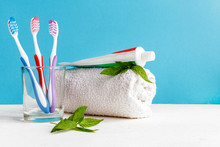 Healthy Teeth. Toothbrush In A...