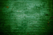 Green Brick Wall