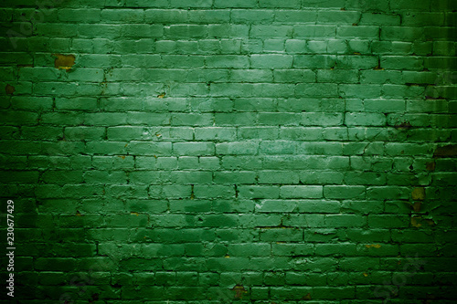 Plakaty zielone  green-brick-wall