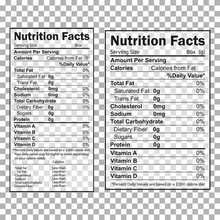 Nutrition Facts Information. I...