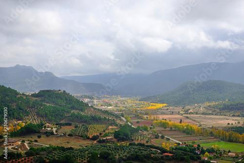Fotobehang Landschap Natural landscape near Riópar, Albacete, Spain.