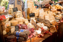 Cheese Market In A French Provence Village
