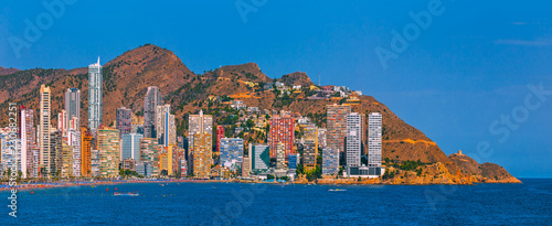Panoramic view image of Benidorm seaside. Spain