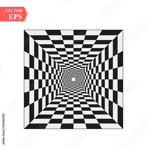 Fotografía A black and white relief tunnel