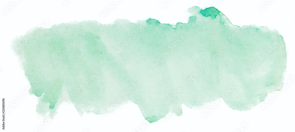 Fototapety, obrazy: green watercolor texture
