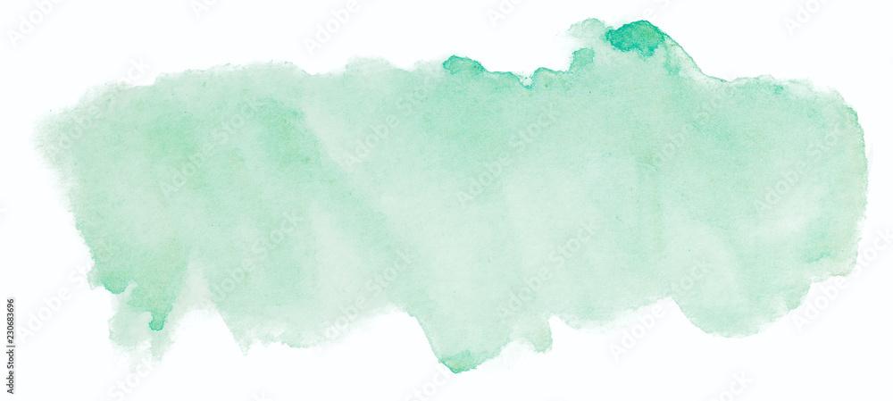Fototapeta green watercolor texture