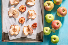 Tasty Dried Apples Made Of Fre...