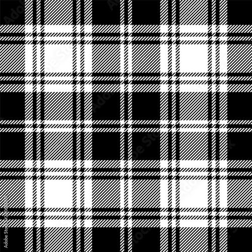Tapety Kratka bez-szwu-tartan-czarno-bialy-wzor