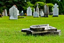 Fallen/broken Tombstone