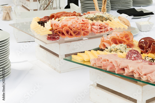 Foto op Canvas Buffet, Bar Table of cold cuts