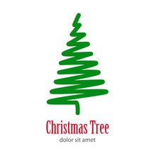Logotipo Christmas Tree Con Ar...