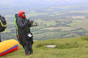 Fototapeta Paraglider launching wing