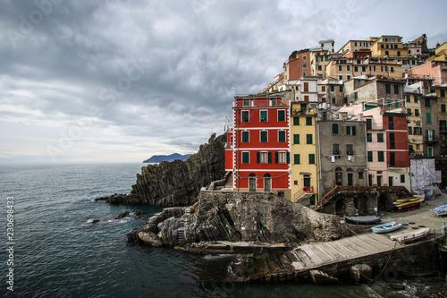 Village of Liguria in Italy, italian riviera