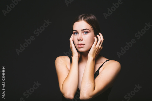 Fotografía  Portrait of a beautiful young Caucasian Caucasian woman 20 years old model with