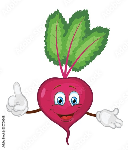cute beet character cartoon