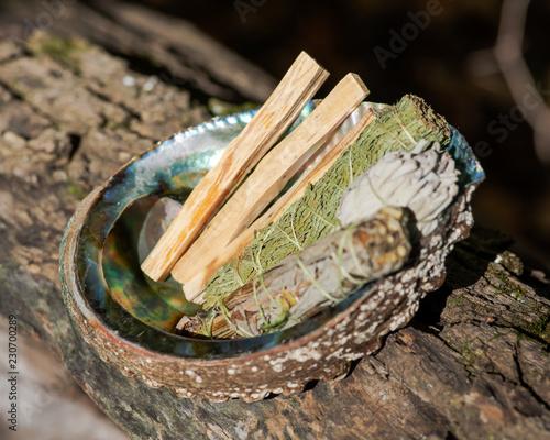 Smudge kit - Palo Santo sticks, Wildcrafted dried white sage (Salvia
