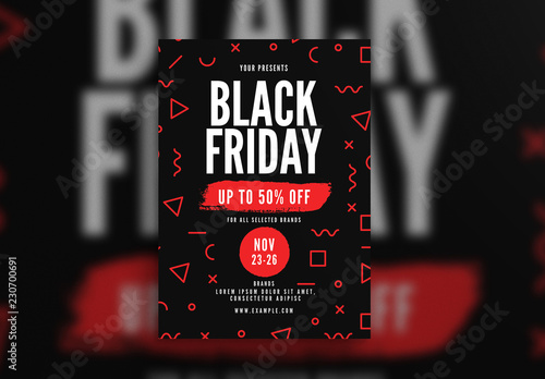 Black Friday Flyer Layout Buy This Stock Template And Explore Similar Templates At Adobe Stock Adobe Stock
