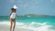 Hispanic Girl Walking Outdoors Beach