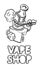 Isolated Emblem Vape Shop.E-ci...