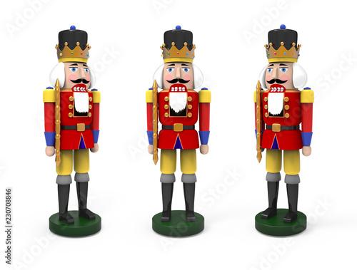 Fotografía  Christmas vintage wooden nutcracker toys