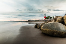 Puntarenas Beach Lighthouse Tourist Attraction Pacific Of Costa Rica