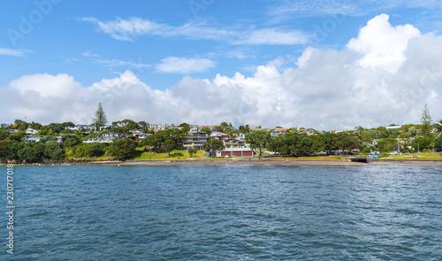 Papiers peints Scandinavie Panoramic View of Murrays Bay Beach Auckland New Zealand