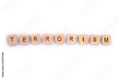 Fotografía  The word TERRORISM