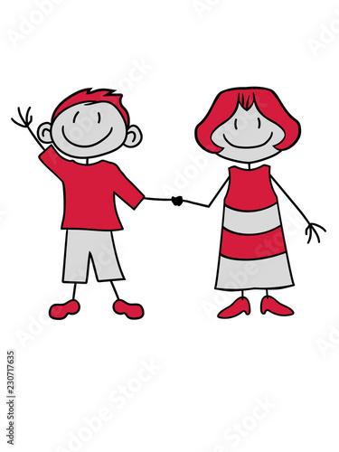 Mann Junge Parchen Paar Liebe Verliebt Team 2 Freunde Geschwister