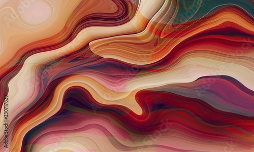 Magnificent Suminagashi Wave Art Style - Liquid Ink Marble Ebru Texture - Paints Stains and Turbulence   - 230717820