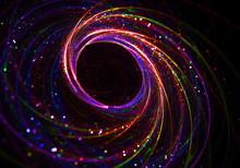 Black Hole Event Horizon Astrophysics Concept  - Curvature Space-Time, Multidimensional Space, Blackhole Funnel