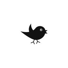Bird Icon On White Background,...