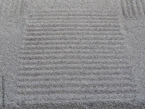 凹凸がつけられた砂地