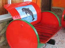 Nicaraguan Barrel Bench Dolphin