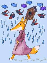 Animal Illustration Watercolor...