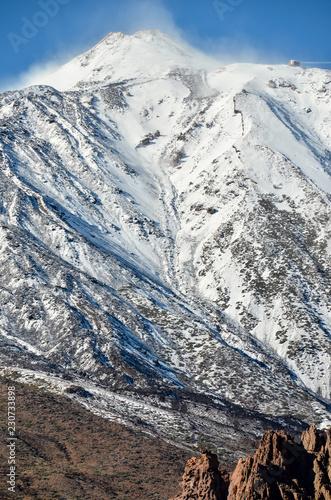 Poster Canarische Eilanden Desert Landscape in Volcan Teide National Park