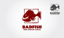 Bad Fish Logo Template Is A Ni...