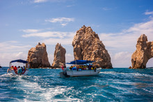 The Rock Structures Near The Arch Of Cabo San Lucas In Mexico.