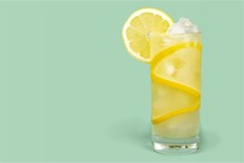 Lemonade With Fresh Lemon On  ...