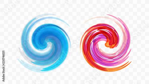 Abstract swirl design element Canvas Print