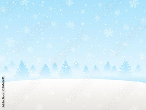 Printed kitchen splashbacks Light blue Winter snow landscape for Your design