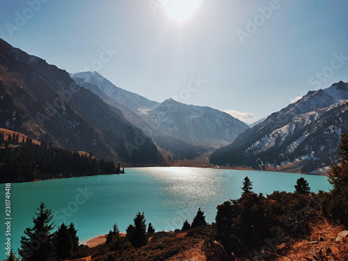 Wall Murals New Zealand Big Almaty Lake
