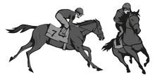 Horse Racing. Jockey On Racing...