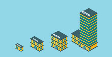 Growth Of Business. Buildings...
