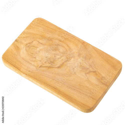 Fotografia  wooden Board isolated on a white background