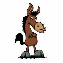 Angry Donkey - Stupid Mule Vec...