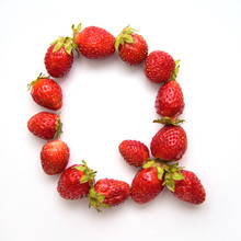 Letter Q Of The English Alphabet From Strawberry