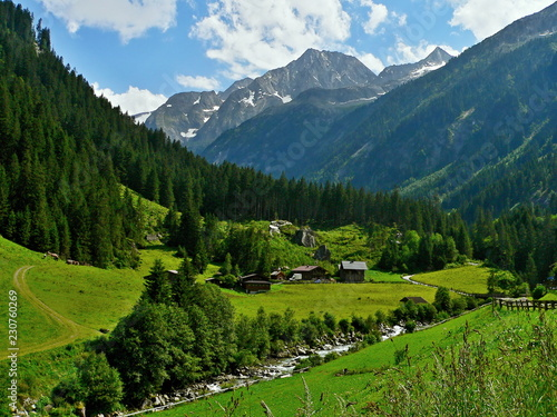 Deurstickers Alpen Austrian Alps-outlook on Swemmalm