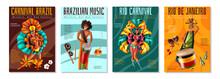 Brazil Carnaval Posters Set