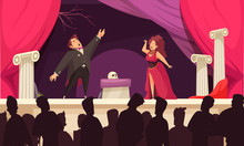 Theater Opera Flat Scene
