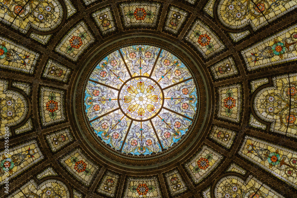 Fototapety, obrazy: Dome of Chicago Cultural Center